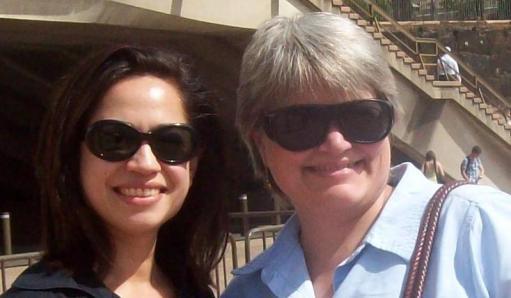 Vanessa and Beth at the Sydney Opera House