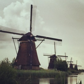 The windmills at Kinderdijk.