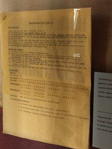 Dutch Resistance secret codes.
