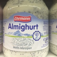 Interesting yoghurt... Marzipan-flavoured.